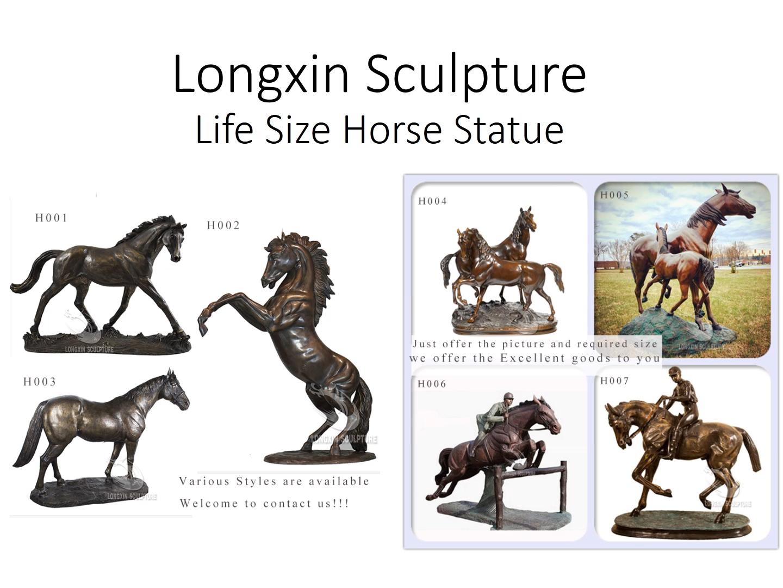 Açık dekor yaşam boyutu antik bronz soyut at heykel satılık