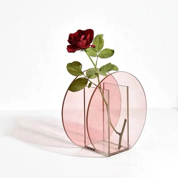 clear colored acrylic flower vases