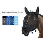Breathable Comfort Fit Fine Mesh Non Heat Transferring Horse Equine Fly Mask with Ears