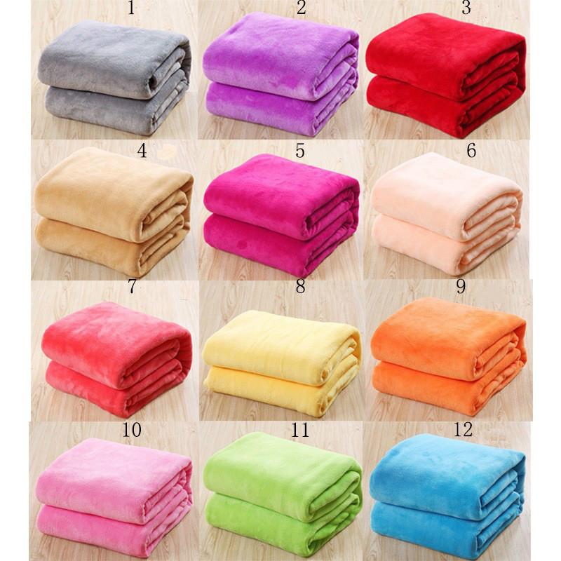 100% Polyester High Quality Flannel Blanket Fleece Warm Super Soft