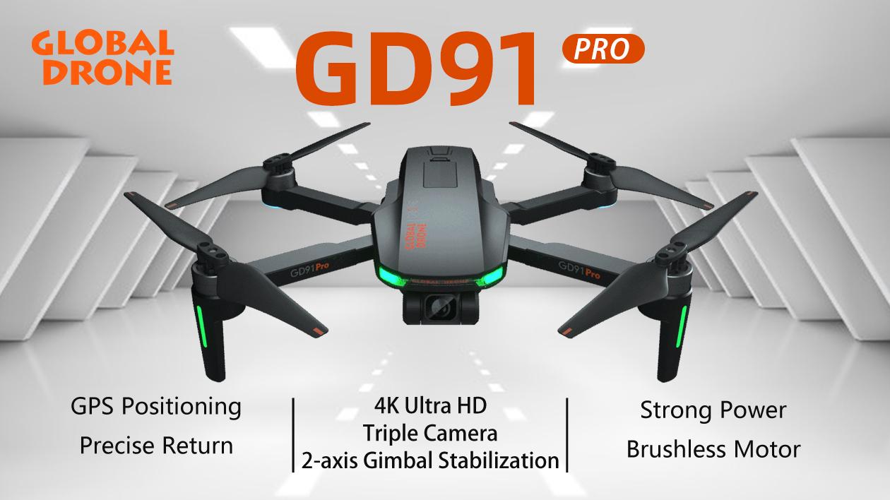 Глобальный Дрон с HD камерой и GPS Дрон 2 оси Gimbal GD91 Pro с камерой 1080P 4K автоматическое отслеживание авто возврат один ключ следуем за мной