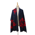 Winter Newest flowers Design Pashmina Jacquard Scarf woman's Scarf Shawl
