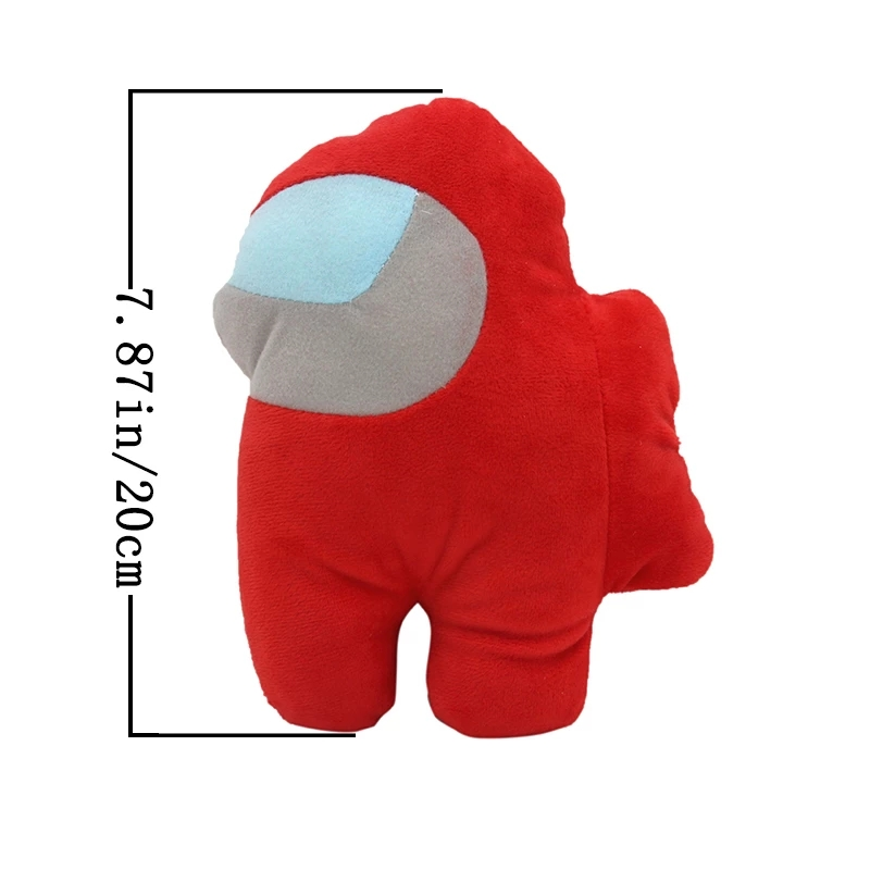 Amazon Hot Sale 20cm soft plush among us plush toys Red small among us plush