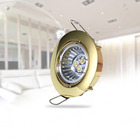 Hot Sale Led Light Fittings spotlight Round Design Gold Color Recessed Led Ceiling light Fixtures