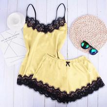 Женская атласная ночная рубашка VERTVIE, Сексуальная кружевная ночная рубашка без рукавов, Пляжное Платье(Китай)