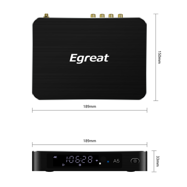 4K Egreat A5 Ultra HD Blu ray Media Player with HDR Compatibility Kodi pre-installed 2020