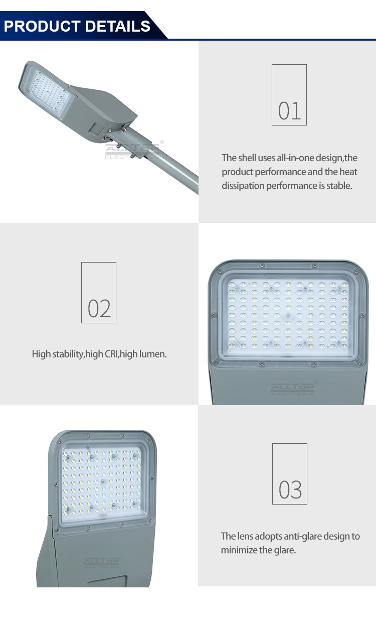 ALLTOP High power AC100-240V highway outdoor ip65 waterproof 100 150 200 w led street light