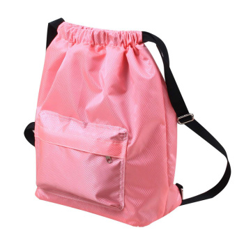 Customized Wholesale waterproof Pink Reusable Cotton Chiffon Pad Drawstring Bag