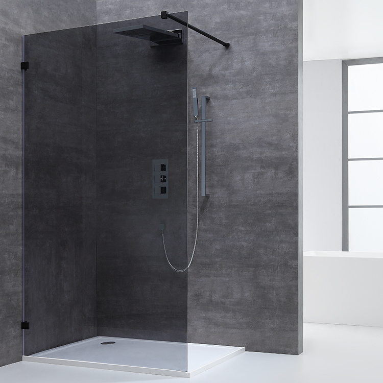 China Bathroom Tempered Glass Aluminum Fully Framed Door Simple Enclosure Slide Shower Screen