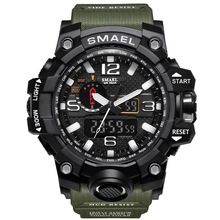 Smael 1545 Fabriek Direct Laagste Prijs 5atm Waterdicht Army Green <span class=keywords><strong>Camouflage</strong></span> Sport Digitale Smael Merk <span class=keywords><strong>Horloge</strong></span>