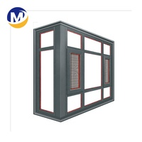 Fashion High Quality Cheap Push Up aluminum alloy frame double glass casement Window profile