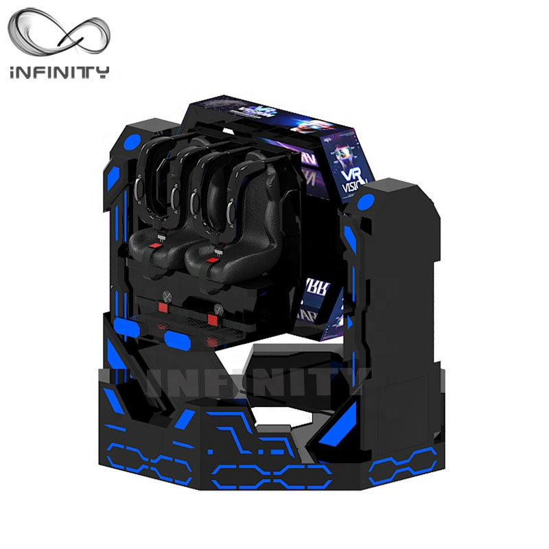 9D 1080 Rotation VR Degree Iron Warrior Games 9D Virtual Reality Roller Coaster VR Rides VR Motion Simulator