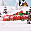 Santa Gift tabletop home decor animated scene mini resin christmas train
