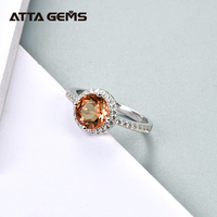 Amethyst Sapphire 925 Sterling Silver Rings for Women 2.3 Carats Round Shape Created Diaspore Zultanite Stone Wedding Band