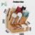 Wholesale Bamboo Wood Napkin Coffee Bag Storage Condiment Organizer