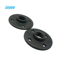 Pipe Fittings Black&Galvanized Malleable Iron Flange Industrial Style Decoration Metal Fittings Wall Flange BSP Threaded Flange