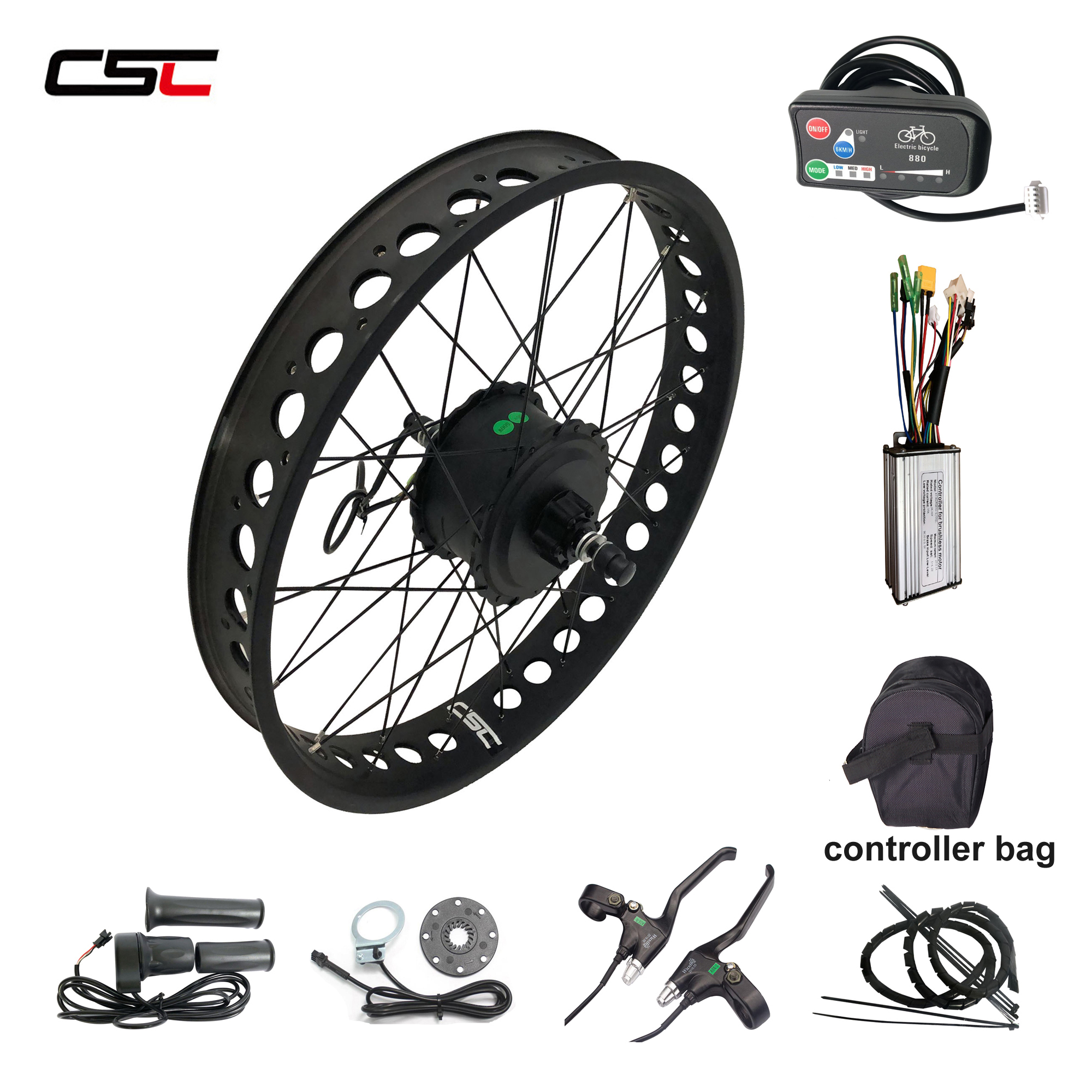 20/'/' 24/'/' 26/'/'x4 Snow fat Tyre electric bike conversion Kit smart motor 36V 250W