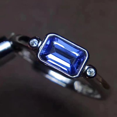 2020 s925 silver inlaid natural tanzanite ring live mouth natural jewelry tanzanite rings