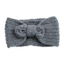 Женская вязаная повязка на голову AWAYTR, с узлом и крестиком, аксессуар для волос на осень и зиму(Китай)