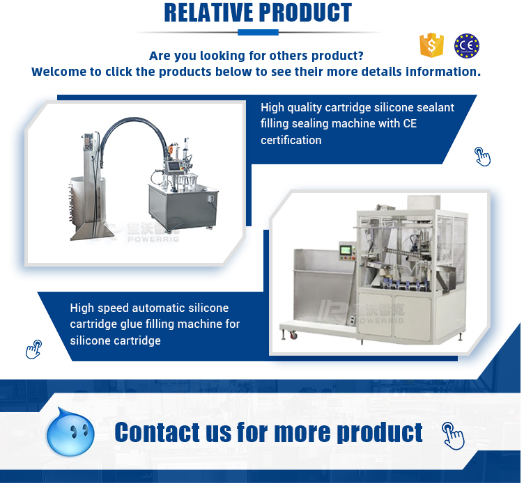 Automatic hard cartridge silicone sealant filling sealing machine for silicone sealant filling