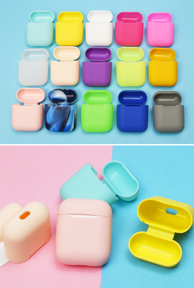 Thin & light Fluorescence rubber case cover shockproof wholesale silicone case for Apple Airpods