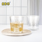 19YRS Glass Provider Elegant embossed drinking juice water beer whiskey transparent glass tumbler cup