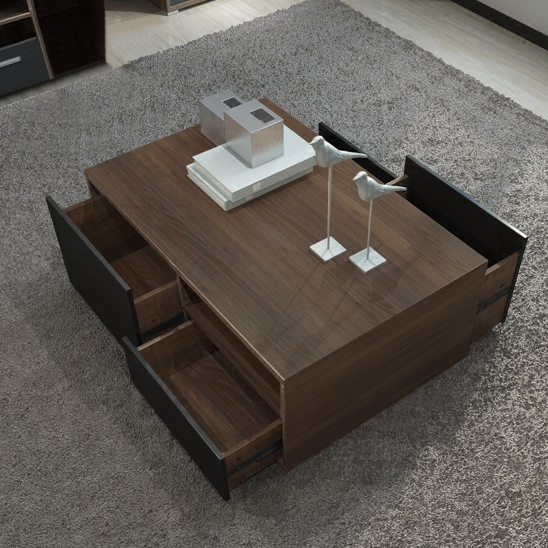 Storage tea table multi-function coffee table set for living room