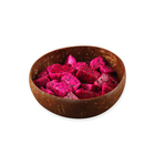 Creative Wholesale Natural Handmade Craft Smoothie Fruit Bowls Spoon Set Logo Organic Coconut Shell Salad Party Bowl
