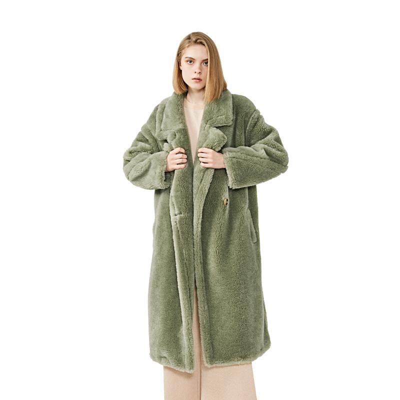 New Arrival Winter Oversized Clothing Elegant Ladies Long Lamb Fur Coat Women Winter Genuine Sheep Shearing Fur Collar Coat фото