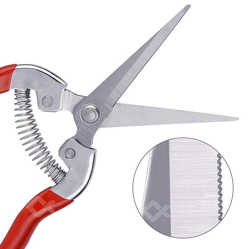 JCD garden tool Fruit scissors pruning shears flower cutting stainless steel