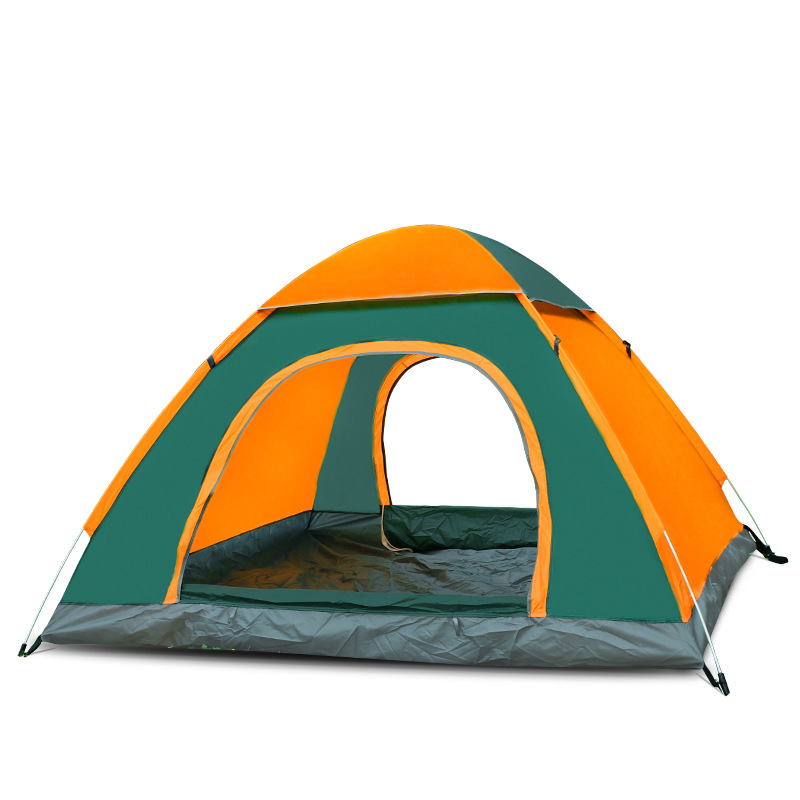 Double 3-4 personnes Camping En Plein Air Simple Ouverture Rapide Pliant Tente Automatique