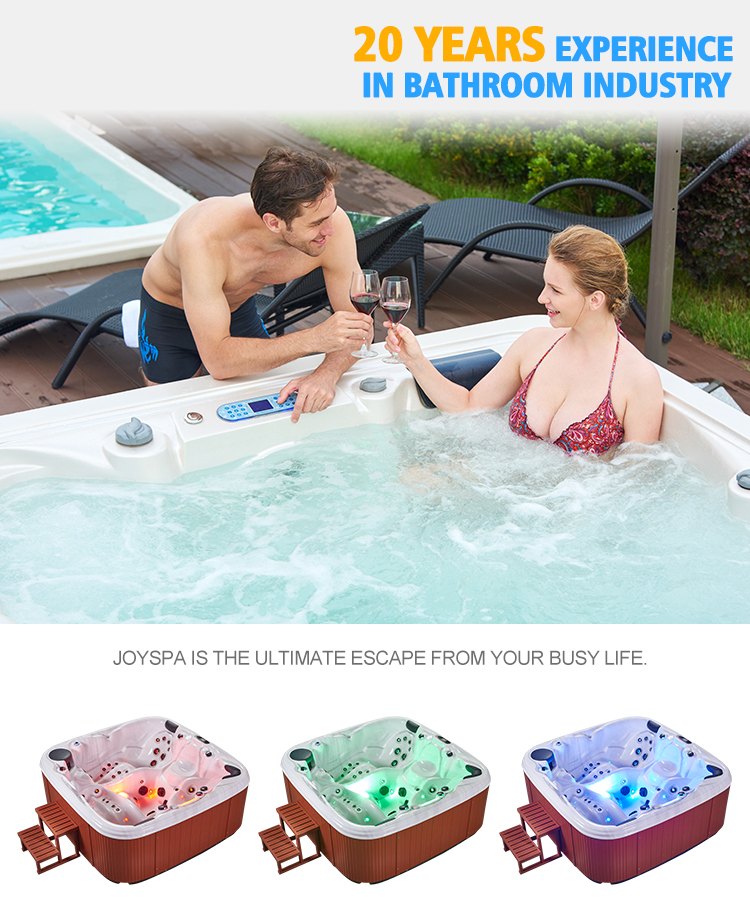 JY8601 Factory Price Endless Massage Swimming Pool Spa 3 Person Hot Tub Combo