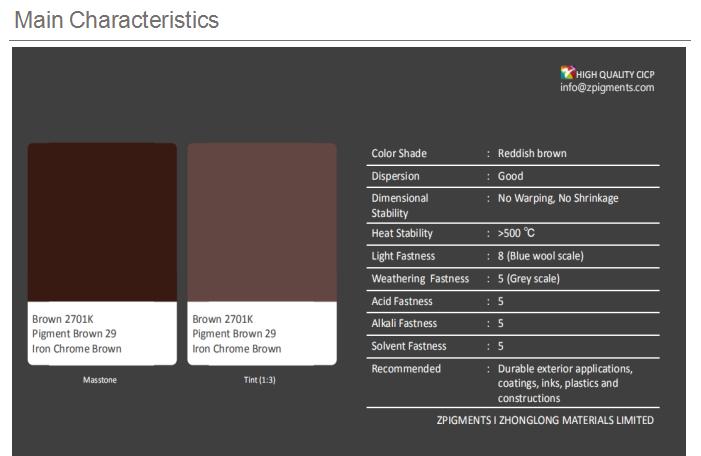 Chrome Sắt Nâu Hematite (PBr29) Sắc Tố Nâu 29