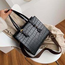 Женская сумка на плечо из искусственной кожи с каменным узором, роскошные сумки для путешествий, 2020(Китай)