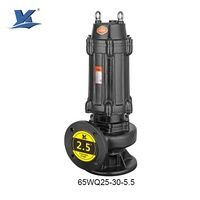 65WQ25-30-5.5 Mine Dewatering Sewage Pump Wastewater Submersible Centrifugal Pumps