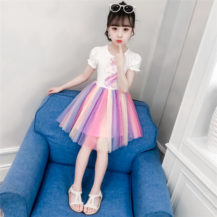 Wholesale Boutique Baby Clothing Girls Dress Floral Short Dresses Summer Girls Clothing