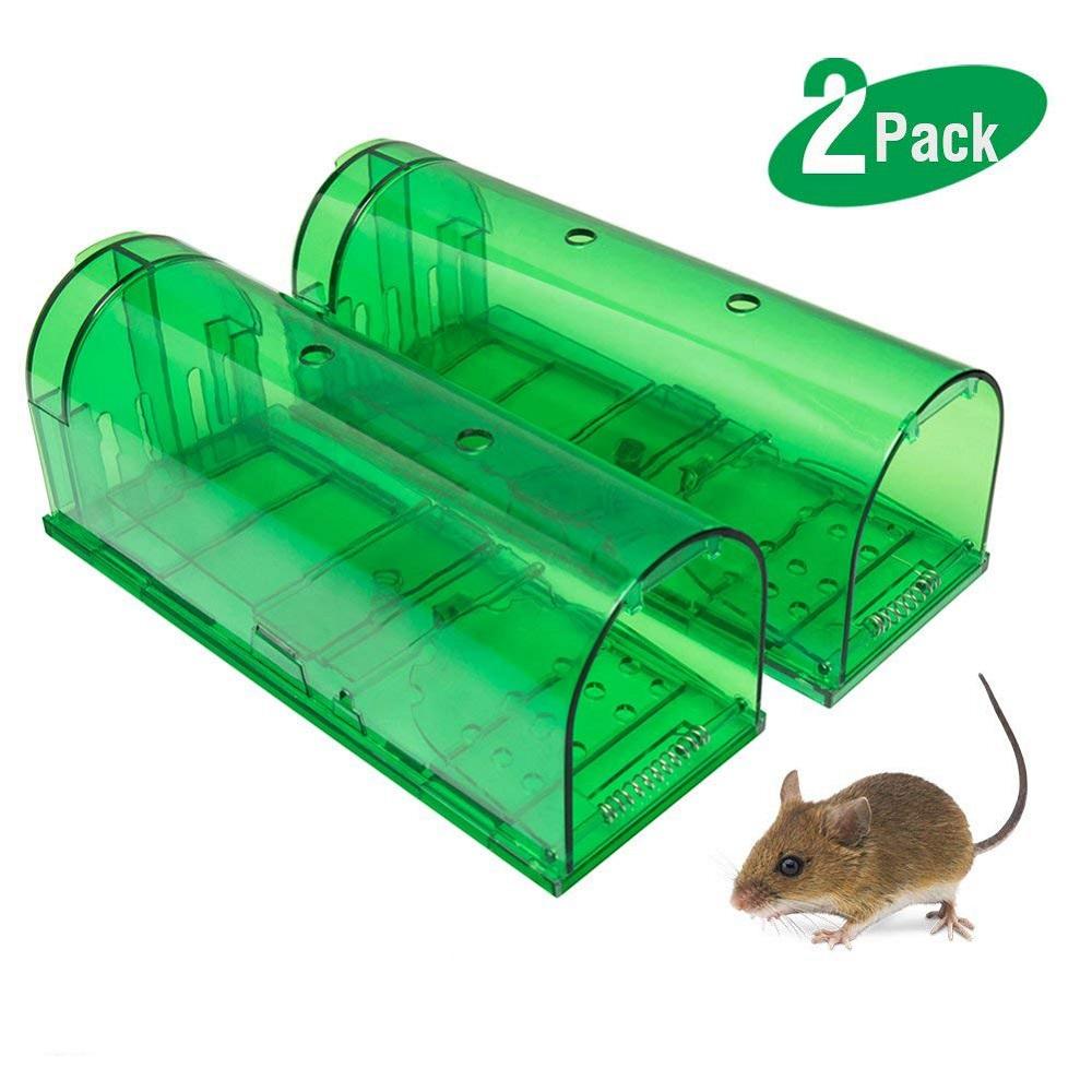 Plastica no uccidi mouse trap umano mouse intelligente trappola trappola gabbia per big del mouse 2 pack