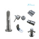 Casino Public Toilet Cubicle Fittings Anti Corrosion 304 Stainless Steel Partition Hardware Accessories