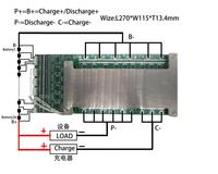 Rechargeable Lithium Battery Protection Circuit Board 5S-30S series, max 170A PCB assembly