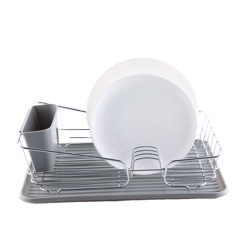 จานชามขนาดใหญ่เก็บช้อนส้อมผู้ถือโลหะที่ถอดออกได้ Drainer ถาดและตะเกียบมีดส้อมสำหรับห้องครัว