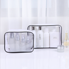 Travel Transparent PVC Toilet Cosmetic Bag Clear Make up Pouch with Zipper
