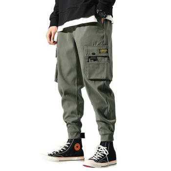 2019 New Fashion Men's Trousers Solid Pockets Loose Casual Hip Hop Men Pants