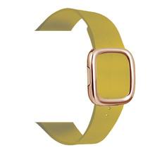 Кожаный ремешок для apple watch band 4, 44/40 мм, браслет в современном стиле, аксессуары для iWatch series 3/2/1, 42/38 мм(Китай)
