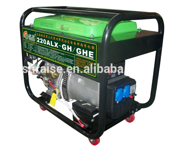 RAISE new type 50~220A 5.0KW gasoline <strong>welding</strong> generator