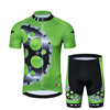 Breathable Mesh Fabric Pro Team Cycling Jersey Set Gear Bike Uniform Cycle Shirt Ropa Cycling Clothing Black White Yellow Green