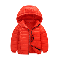 Best Selling Factory Wholesale Cheap RTS Kids Warm Coat Unisex Children Down Hooded Jacket Fashion Boys Winter Jackets