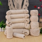 Wholesale decoration strings twisted macrame cord 3mm 4mm 5mm white bag handle colored Natural cotton rope DIY basket
