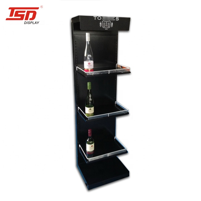 Custom Retail Shop Floor Wijn Fles Mdf Houten Display/Hout Wijn Display Rack/Schilderen Hout Stand
