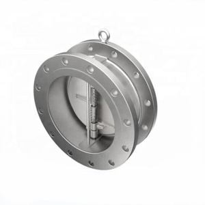 Fuel Dn300 Pn16 Spring Loaded Stainless Steel Dual Plate Check Valve
