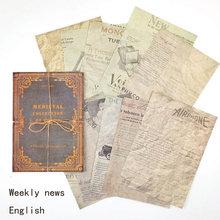 10 листов, оригинальная ретро старая книга, материал страницы, бумага, декоративная подложка, древняя книга, серия, Diy наклейки, блокнот, плани...(Китай)